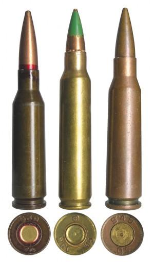 Современные автоматные патроны: 5,45х39 Калашников, 5,56х45 NATO и китайский 5,8х42