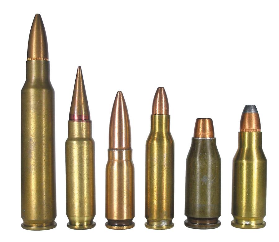 Штатный армейский патрон 5,56x45 NATO в сравнении с новыми патронами класса PDW: 5,7x28, 5,8x21, 4,6x30, 5,45x24 и .22 ТСМ