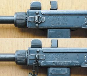 Сверху: маркировка К9-92 раннего выпуска. Снизу: маркировка К6-92 позднего выпуска