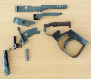Детали спускового механизма К6м с двумя предохранителями