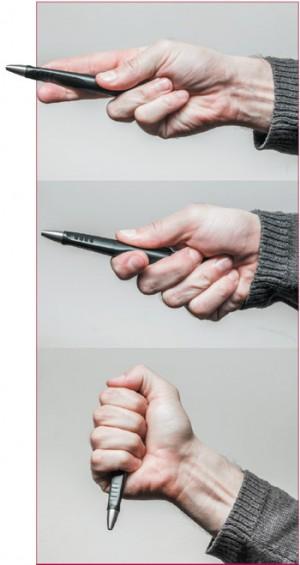 Некоторые способы удержания тактической ручки