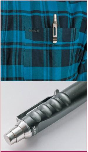 Помещенная в карман, SureFire Pen EWP-03 внешне неотличима от обычной канцелярской ручки