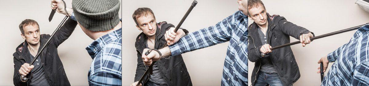 При наличии определенных навыков трость поможет отбиться от противника, вооруженного ножом