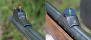 На стволах охотничьего контура установлены механические мушка и целик со светонакопительными вставками