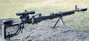 Пулемет ДШК, трансформированный в винтовку калибра 12,7х108 силами волонтеров