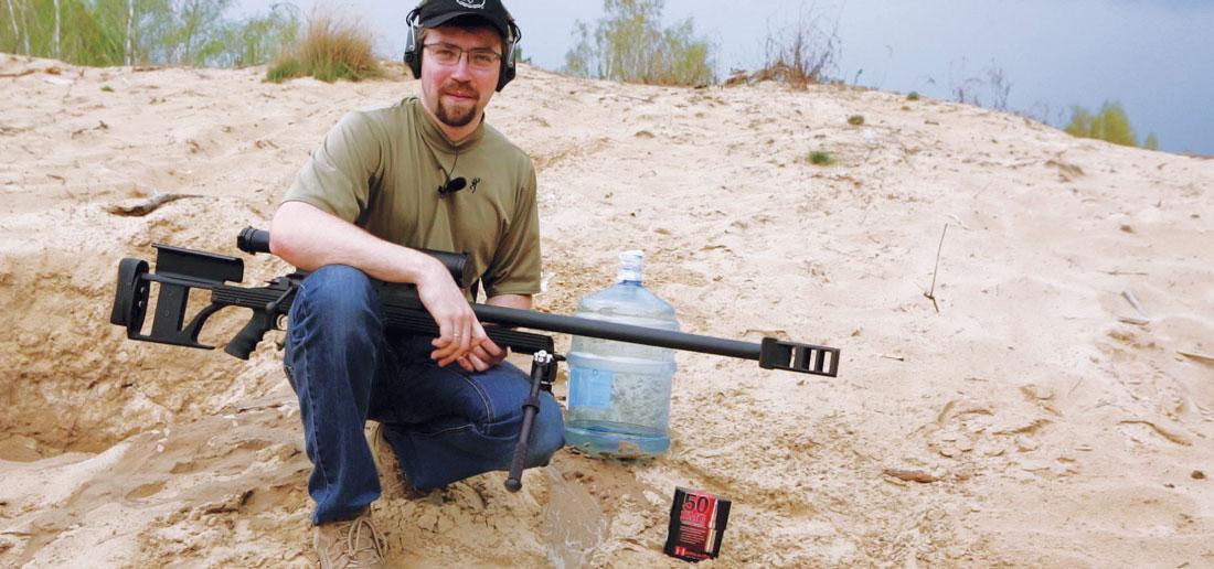 Автор с Armalite AR-50A1 и трофеем