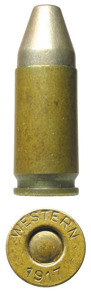 Патрон 9х19 Glisenti, изготовленный американской компанией Western Cartridge Company по заказу итальянского правительства