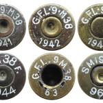 Варианты маркировок на итальянских патронах 9х19 М38