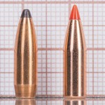 слева направо: Sierra GameKing SBT 65 гран, Hornady V-Max 60 гран)