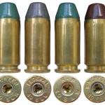 Патроны словацкой фирмы Ares с пулями типа EPRX (свинцовая пуля с ПВХ-покрытием вместо оболочки), изъятые из отбракованной партии патронов с дефектной посадкой капсюлей