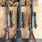 Оружие немецких охотников (слева направо): Blaser R8 Stutzen 9,3x62, Blaser R8 Professional .300 WinMag, Blaser R93 Stutzen .300 WinMag