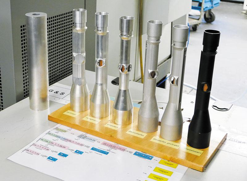 Стадии формирования корпуса оптического прицела