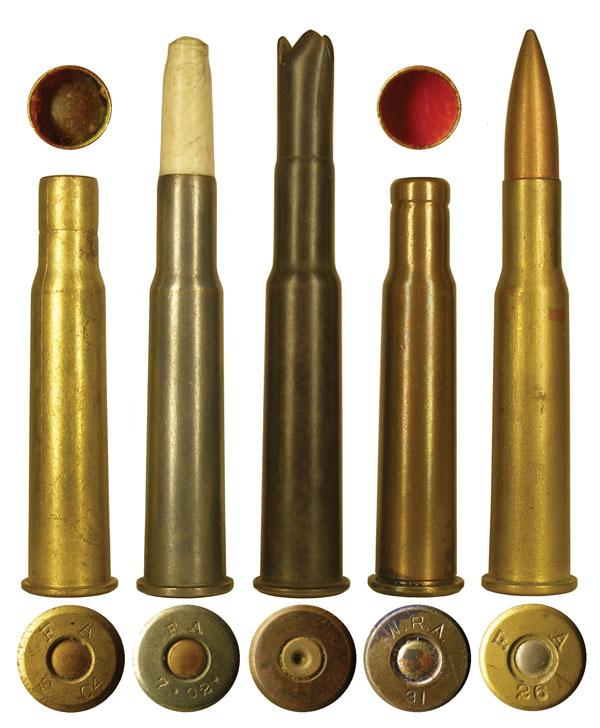 Различные варианты коммерческого исполнения патрона 6,5х54R