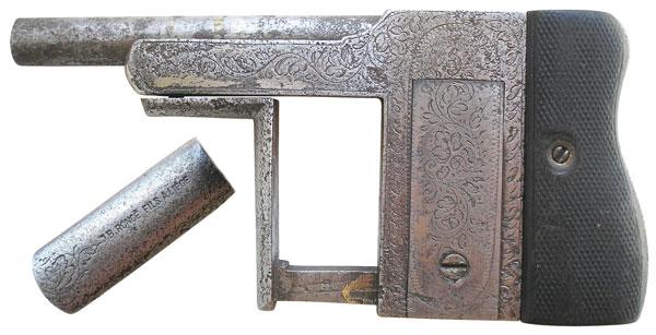 Пистолет системы Merveilleux, изготовленный фирмой J. B. Ronge Fils в г. Льеже (Бельгия)