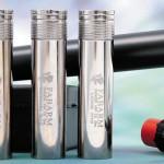 Сменные дульные сужения гиперболического профиля длиной 82мм изготовлены из стали. На фотографии: установлено сужение Short, в ряду слева направо: Cylinder, Xtreme (9/10), Medium (5/10) и Long (7/10)