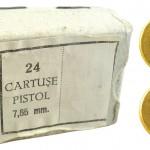 Очень лаконичная упаковка и маркировка румынских 7,65-мм патронов U.M. Sadu. Патроны производились для пистолета 7,65 mm CARPATI, который с начала 1980-х гг. заменил в румынской армии пистолет ТТ кал. 7,62х25