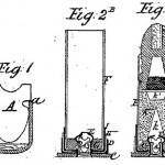 Слева— первый патент Хайрема Бердана на гильзу с центральным капсюльным гнездом (US Patent №53388, 1866 г.), справа— «классический» патрон конструкции Бердана с центральным капсюльным гнездом (US Patent №82587, 1868 г.)