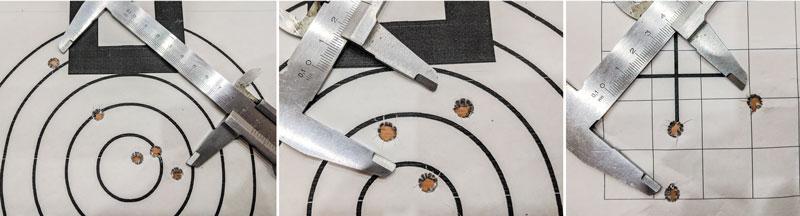 ...что мы и наблюдаем на мишенях: кучность от 1 до 2,5 МОА не соответствует стандартам высокоточной стрельбы