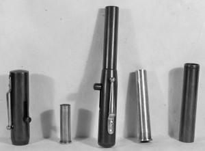 Газовые Pen Gun .38 и .410 калибров, изъятые полицией Бостона, США, (1930-е гг.)