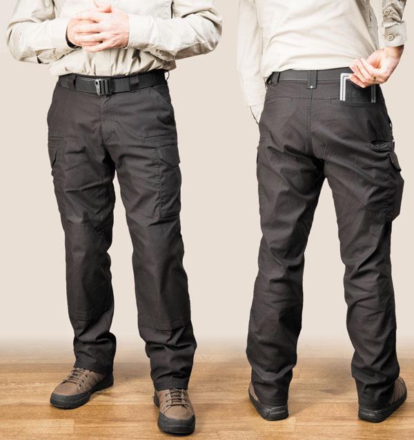 Задние карманы достаточно широки для размещения документов или других вещей