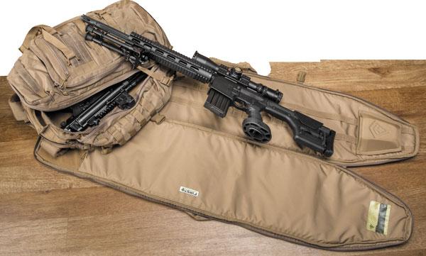 Чехол можно отсоединить от рюкзака и использовать как стрелковый мат