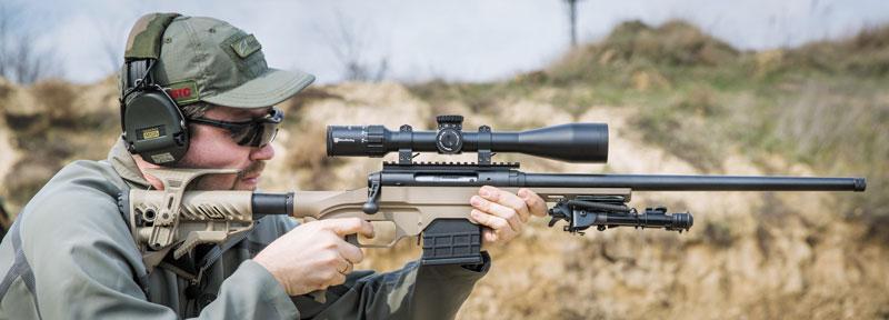 Из такой винтовки можно стрелять не только лежа. Но для большего комфорта приклад все же придется доработать либо заменить