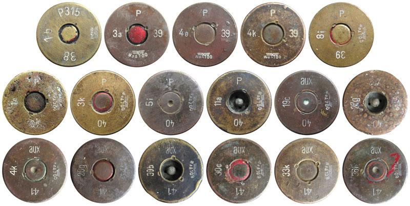 Варианты маркировки патронов Р318