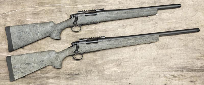 """Карабины Remington 700 SPS Tactical .308-го калибра отличаются от других моделей уменьшенной длиной ствола (16"""" и 20""""), шагом нарезов 1:10"""" и заводской резьбой на дульном срезе (5/8""""-24 UNEF)"""