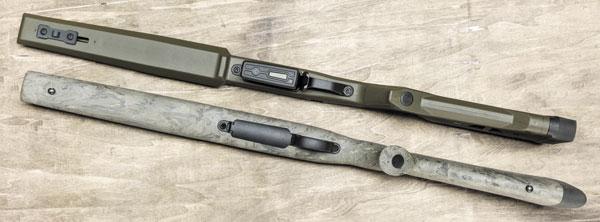 Одно из основных отличий Magpul Hunter — плоское цевье и возможность установки шахты для сменных магазинов