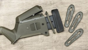 Приклад Magpul Hunter можно регулировать по длине — за счет проставок, и по высоте щеки — засчет сменных подщечников