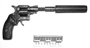 Сигнальный РС-22 «Страж» №9497321 сглушителем, переделанный Иванковым для стрельбы патронами .22 LR