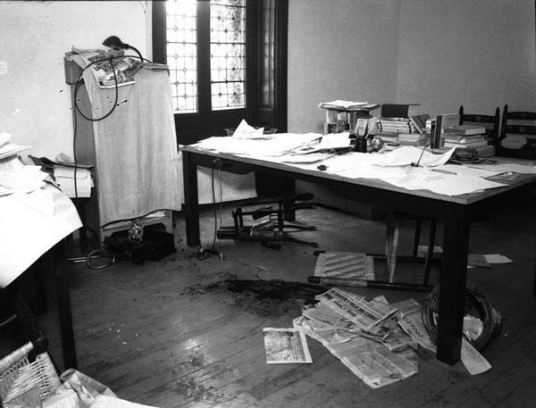 Кабинет Троцкого после покушения