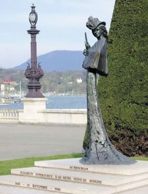 Памятник Сисси на набережной Монблан, Женева