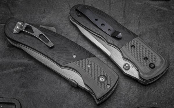 клипсы обоих ножей также отличаются оригинальностью. черный цвет клипсы Shock Wave (справа) смотрится не так ярко, зато нож в кармане не привлечет внимание окружающих