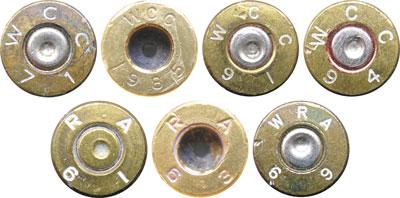 Клейма на патронах Ball Cartridge, Model of 1911, выпущенных после Второй мировой войны