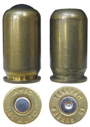 Российские травматические патроны .45-го калибра производства АКБС и «Техкрим»