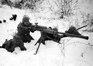 Финская 20-мм зенитка ItK 38 (она же немецкая Flak 38) на самодельной треноге (советско-финская война 1939-40 гг.)