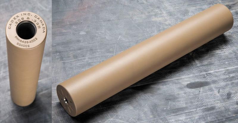 Саунд-модератор Cadex довольно эффективен, несмотря на то, что одна и та же модель используется для калибров .338, .30 и 6,5 мм