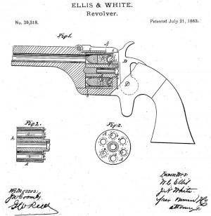 Модернизированная система Эллиса и Уайта под патрон типа cupfire (US Patent №39318 от 21июля 1863 г.)