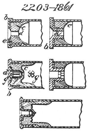 Рисунок из английского патента № 2203 от 1861 г. Джорджа Доу