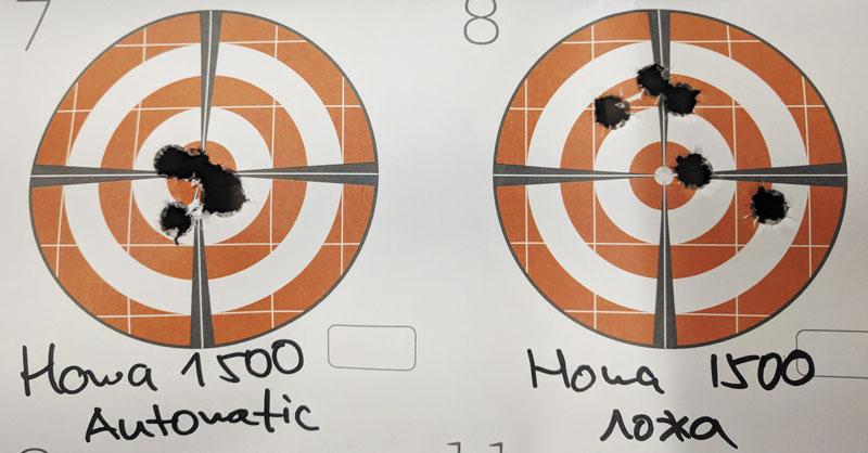 ...так и результатами стрельбы на мишенях. Просто заменив ложу на шасси, вышло улучшить кучность винтовки вдва раза!