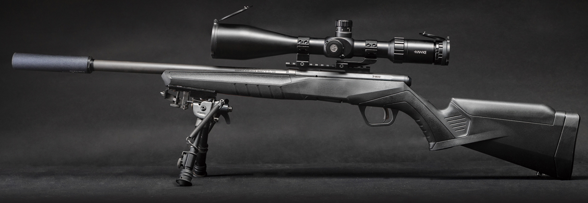 В сочетании с сошками TipTop и прицелом Hawke Sidewinder FFP 6-24x56 получаем доступное и точное оружие для активных тренировок
