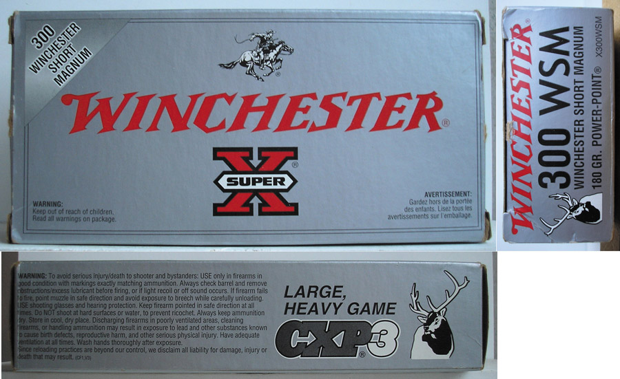 Коробка фирмы Winchester от патронов .300 WSM