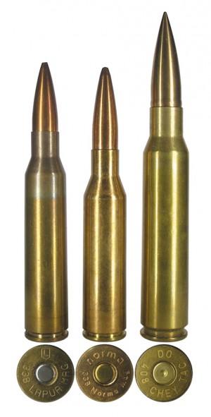 Снайперские патроны: .338 Lapua Magnum, .338 Norma Magnum и .408 CheyTac