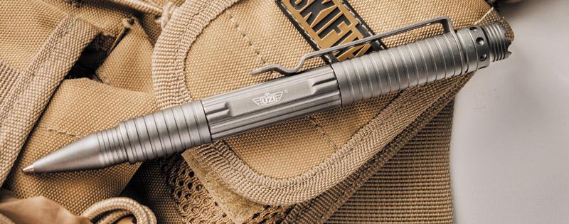 Вариант тактической ручки от Uzi имеет гораздо более устрашающую внешность — и отлично подойдет для военнослужащих и сотрудников силовых структур