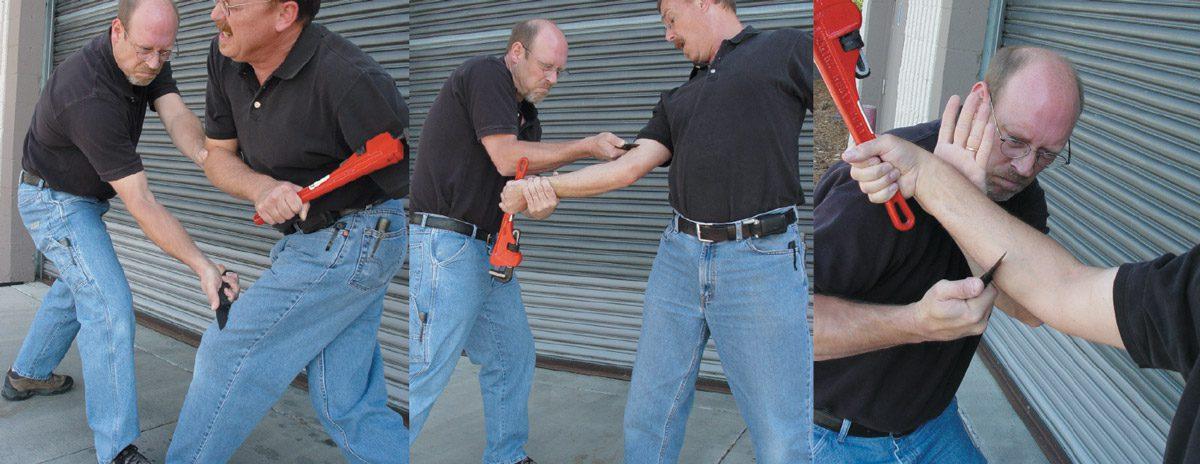 Даже на снимках концепция ножевой самозащиты от Майкла Янича выглядит устрашающе