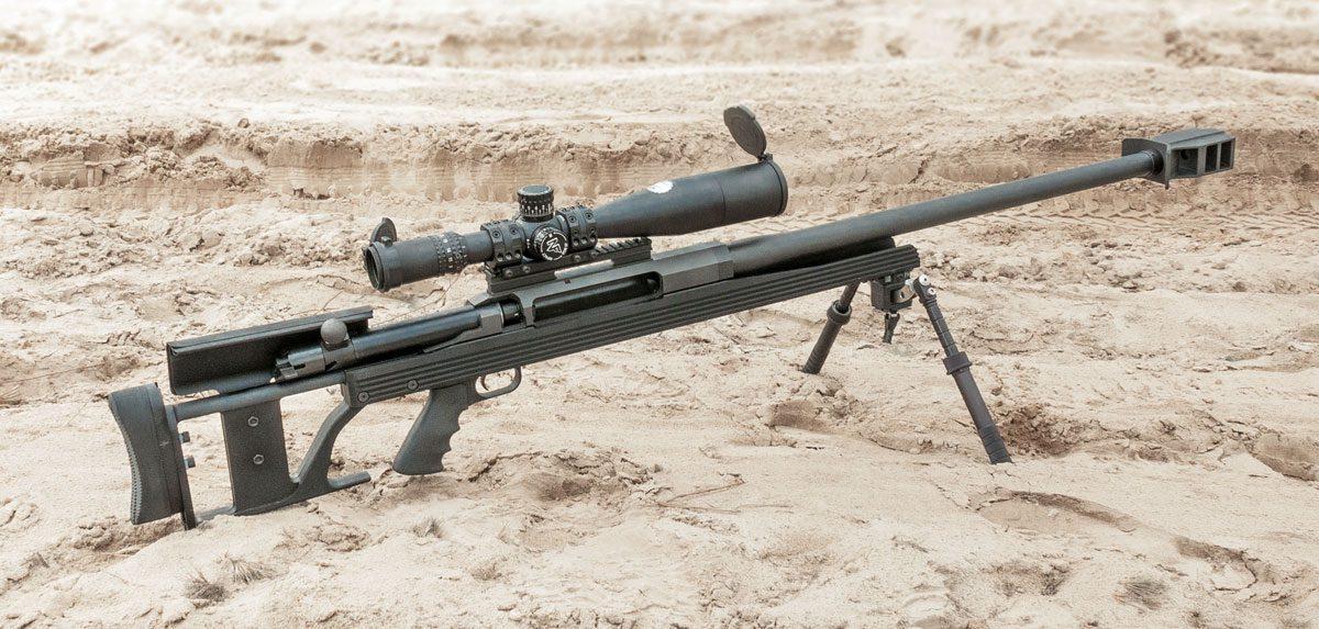 Снайперский комплекс на базе винтовки Armalite AR-50A1, прицела Nightforce ATACR 5-25x56 F1 и сошек Atlas 5-H
