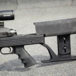Приклад AR-50A1 крепится к шасси двумя винтами и допускает регулировку высоты щеки и затыльника приклада