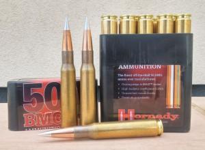 Самые точные и дальнобойные заводские патроны калибра .50 BMG— производства Hornady с пулей A-Max массой 750 гран и баллистическим коэффициентом 1,05