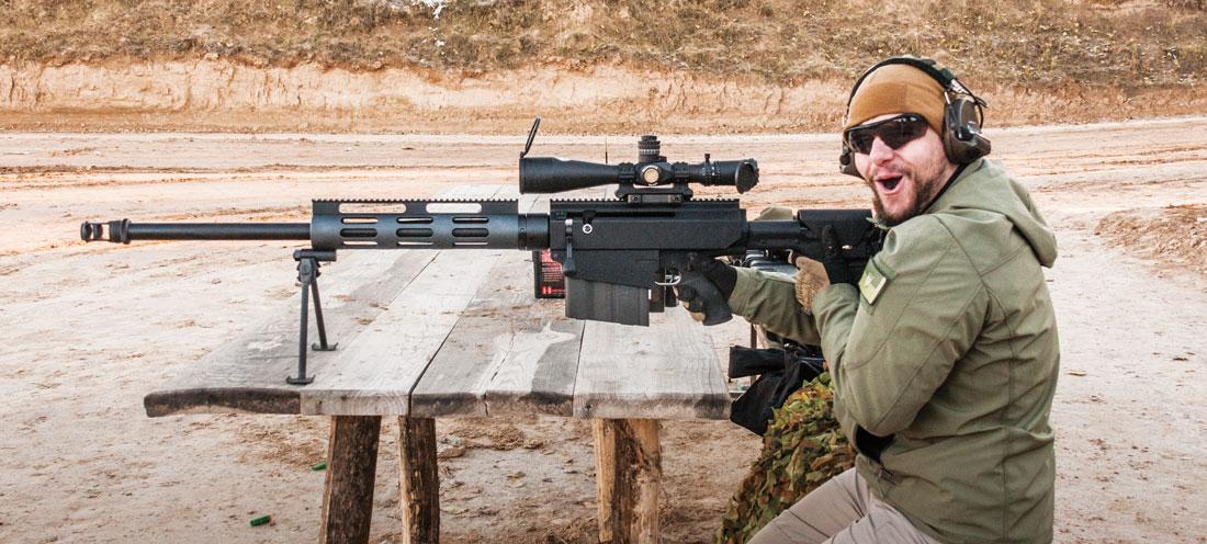 Каждый выстрел из Bushmaster BA50 оставляет незабываемые впечатления на всю жизнь